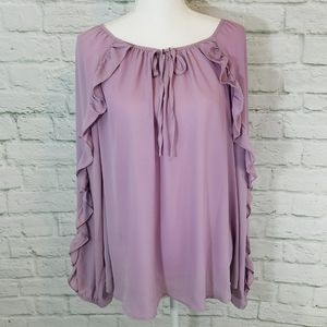 NWT Boutique Ruffle Sleeve- Plus Size Top